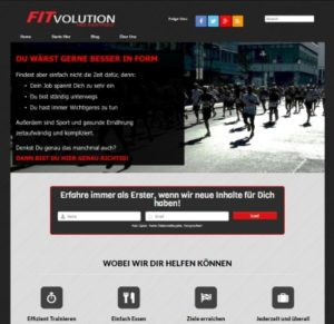 Fitvolution Homepage 2015 screenshot