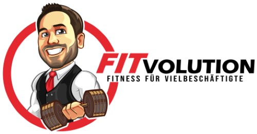 Die besten Fitness-Blogs - Fitvolution-Cartoonlogo-oldschool